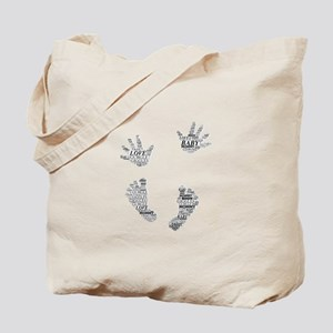Baby Hands and Feet Leslie Harlow Tote Bag