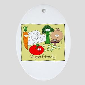 Vegan friendly Oval Ornament