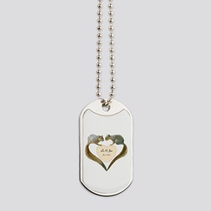 Love Squirrels Doily Dog Tags