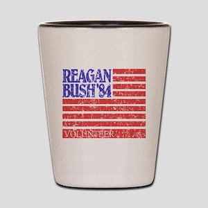 Reagan 84 Volunteer Shot Glass
