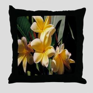Plumeria series 2 Throw Pillow