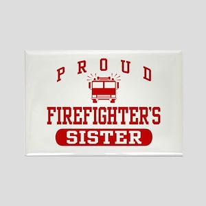 Proud Firefighter's Sister Rectangle Magnet