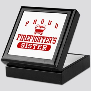 Proud Firefighter's Sister Keepsake Box