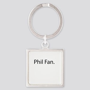 Phil Fan Square Keychain