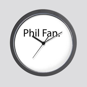 Phil Fan Wall Clock