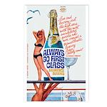 Postcards (pkg. 8)-'Always Go 1st Class'