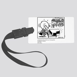 Young Man Large Luggage Tag