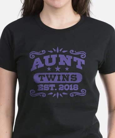 Aunt Twins Est.2018 Women's Dark T-Shirt