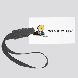 Music is My Life Large Luggage Tag