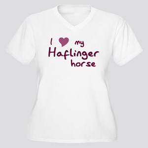 I love my Haflinger horse Plus Size T-Shirt