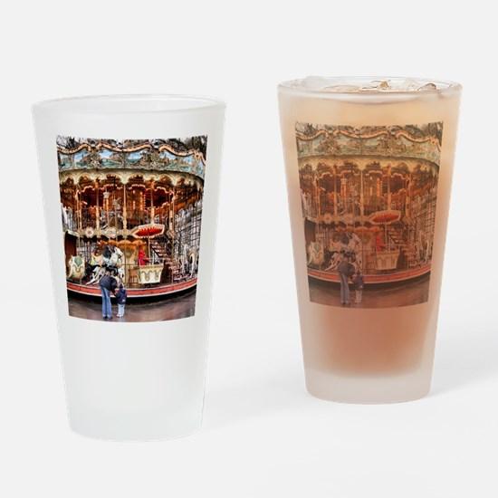 Carousel in Montmartre Drinking Glass