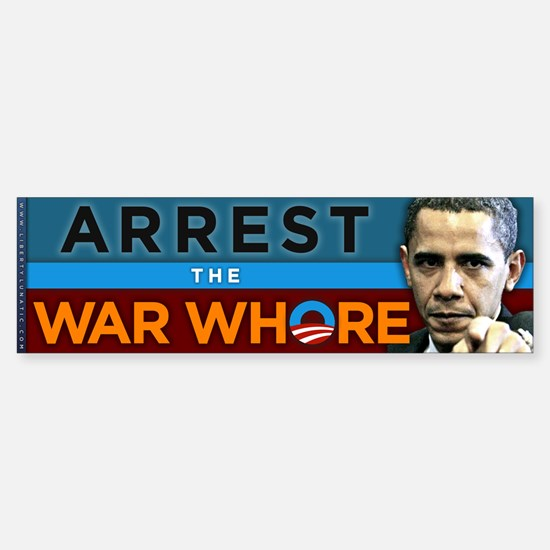 War Whore - Obama Sticker (Bumper)