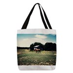 Old Farm Polyester Tote Bag