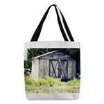 Old Shed Polyester Tote Bag