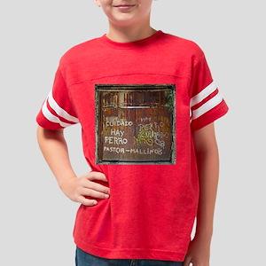 Hay Perro Shower Curtain Youth Football Shirt