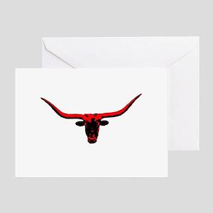 Texas Long Horn r Greeting Card