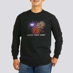 Happy New Year Long Sleeve Dark T-Shirt