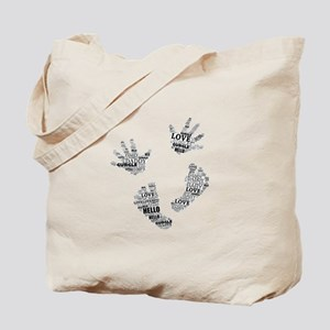 Baby Hands and Feet with Words 4 Tote Bag