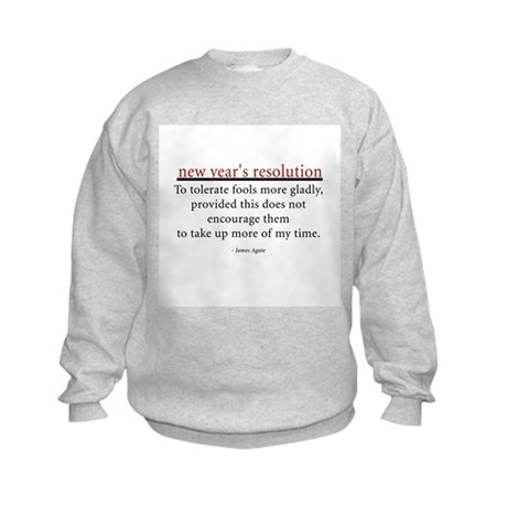 New Year's Resolution Kids Sweatshirt