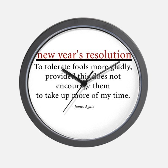 New Year's Resolution Wall Clock