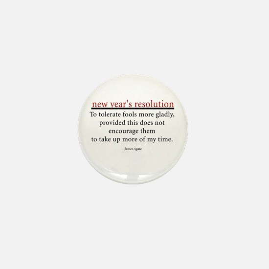 New Year's Resolution Mini Button