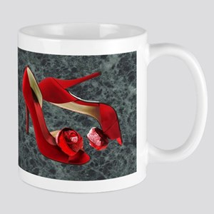 Rock Me Red Pom Poms Mugs