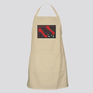 Raging Red Open Toed Stilettos Apron