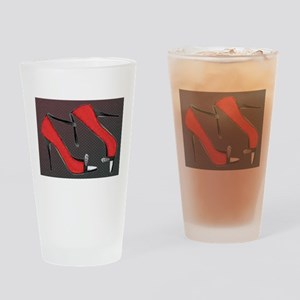 Raging Red Open Toed Stilettos Drinking Glass