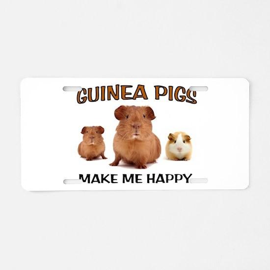 HAPPY PIGS Aluminum License Plate