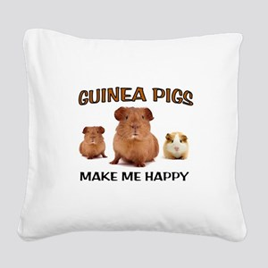 HAPPY PIGS Square Canvas Pillow