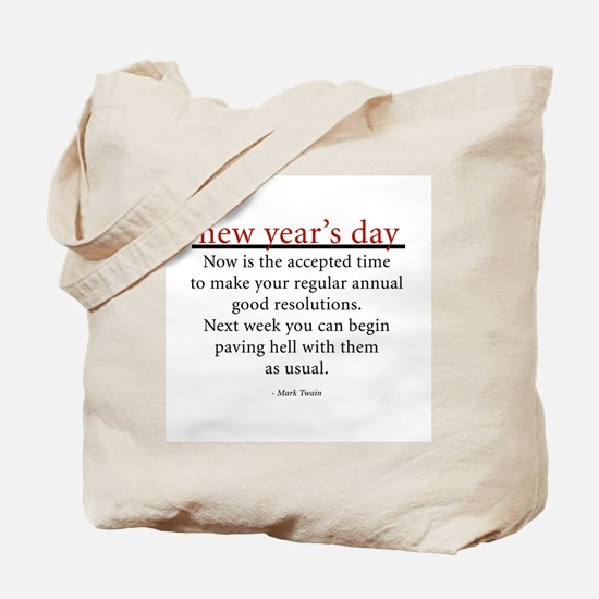 New Year's Day Tote Bag