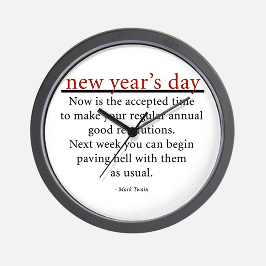 New Year's Day Wall Clock
