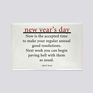 New Year's Day Rectangle Magnet