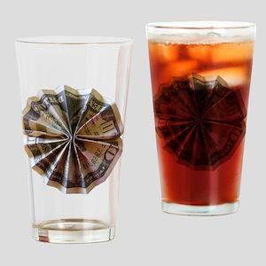 Money Origami Rosette Drinking Glass