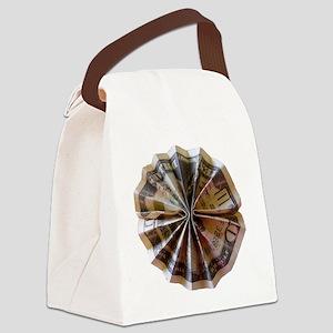 Money Origami Rosette Canvas Lunch Bag