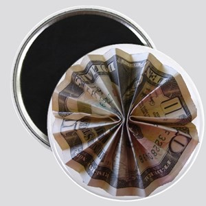 Money Origami Rosette Magnet