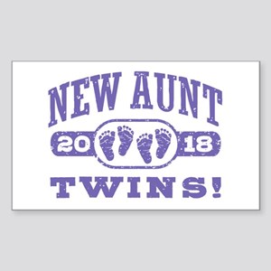 New Aunt Twins 2018 Sticker (Rectangle)