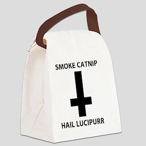 Smoke catnip hail lucipurr Canvas Lunch Bag