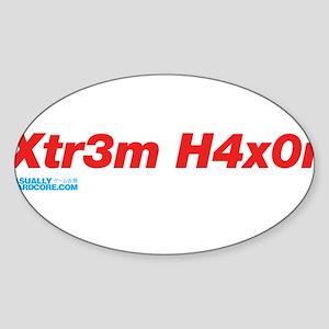 Xtr3m H4xor Sticker (Oval)