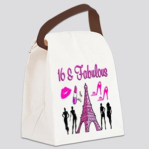 GLAMOROUS 16TH Canvas Lunch Bag