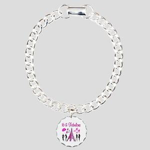 GLAMOROUS 16TH Charm Bracelet, One Charm