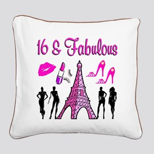 GLAMOROUS 16TH Square Canvas Pillow