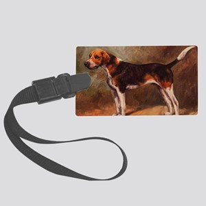 English Foxhound Large Luggage Tag