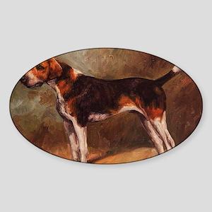 English Foxhound Sticker (Oval)