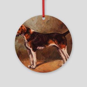 English Foxhound Round Ornament