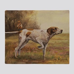 English Pointer with Hunter Throw Blanket