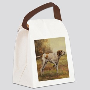 English Pointer with Hunter Canvas Lunch Bag
