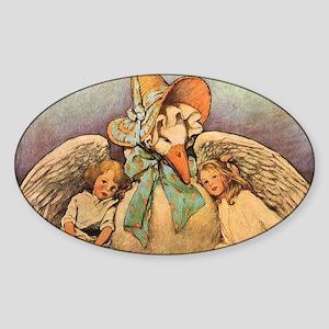 Vintage Mother Goose Sticker (Oval)