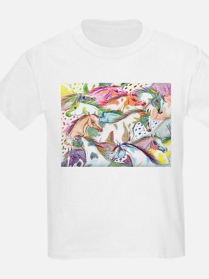 Wild Horse Herd Kids T-Shirt