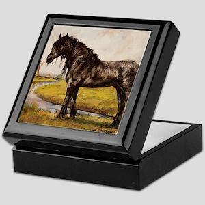Friesian Horse in The Netherlands Keepsake Box